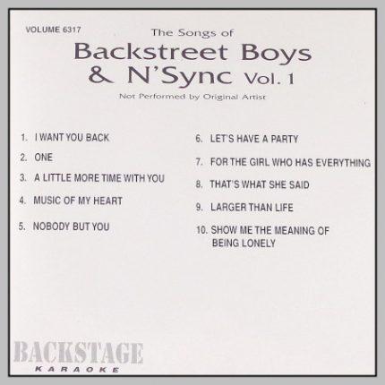 Backstage Karaoke - 6317 - Backstreet Boys - N-Sync - Vol.1-Back