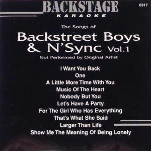 Backstage Karaoke - 6317 - Backstreet Boys - N-Sync - Vol.1-Front