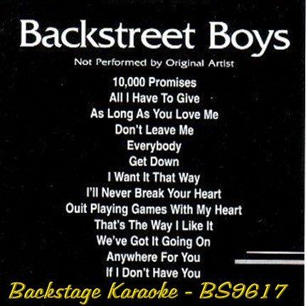 Backstage Karaoke - 9617 - Backstreet Boys