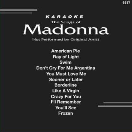 Backstage Karaoke Madonna 6517 - Front
