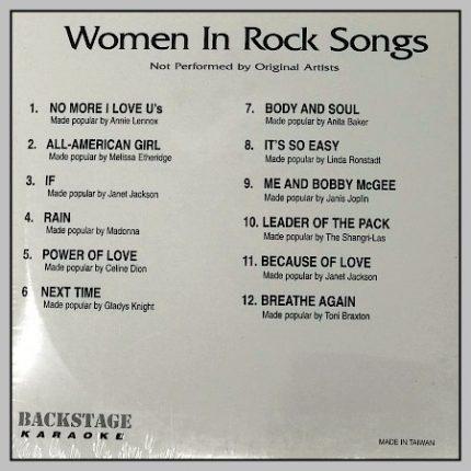 Backstage Karaoke - Women In Rock - 4817 - Back