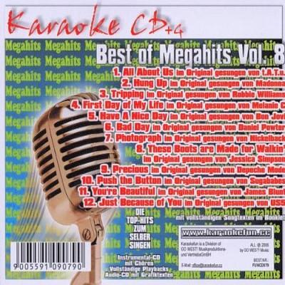 Best Of Megahits Vol.8 CD+G - Karaoke Playbacks - Back