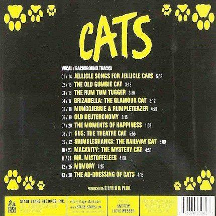 Broadway Musical CATS Accompaniment Set - Rueckseite CD