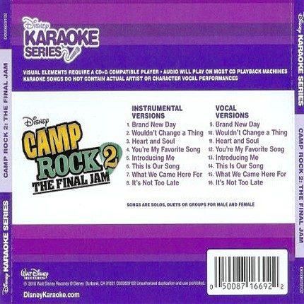 Camp Rock 2 - The Final Jam - Karaoke Playbacks - Rueckseite