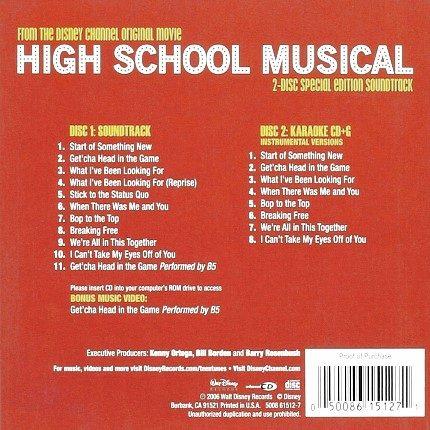 Disney's High School Musical Gold Edition - Karaoke Playbacks - CD+G - Rueckseite