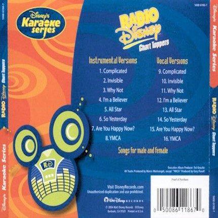 Disney's Series - Radio Disney Chart Toppers - Karaoke Playbacks - CD+G - Rueckseite
