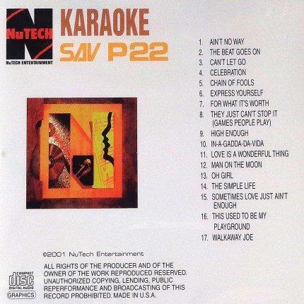NuTech-Karaoke-P-22 - Playbacks - Rueckseite