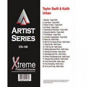 TAYLOR SWIFT & KEITH URBAN - Karaoke Playbacks - xta108
