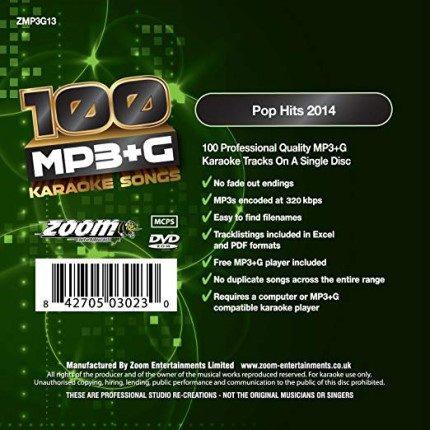Zoom G 100 Songs - Pop Hits 2014-Rueckseite