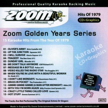 Zoom Karaoke CD+G - Golden Years 1979 - 15 Karaoke Classics - Front