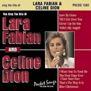 Die Hits von Lara Fabian und Celine Dion - Karaoke Playbacks - PSCDG 1503 - CD-Front