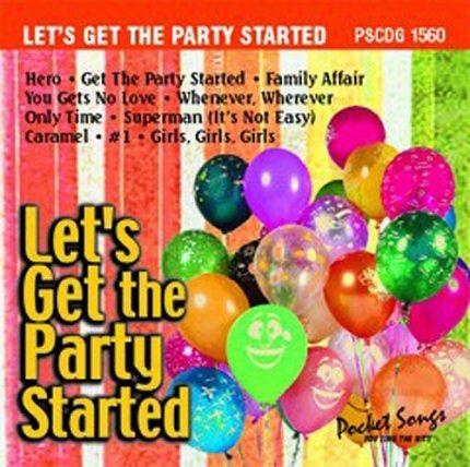 Let's Get The Party Started - Karaoke Playbacks - PSCDG 1560 - Frontbild