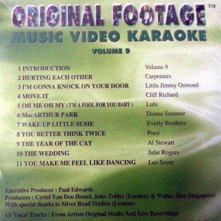 Original Footage Karaoke VCD vol 9