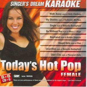 Today's Hot Pop Female - Karaoke Playbacks - CD+G - CD-Front