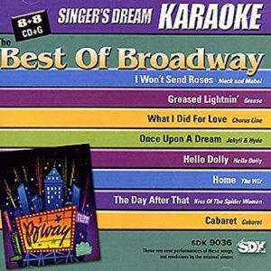 Best of Broadway - Karaoke Playbacks - SDK 9036