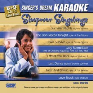 Sleepover Singalongs - Karaoke Playbacks - SDK 9049