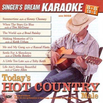 Today's Hot Country Male - Karaoke Playbacks - CDG - SDK 9058 (Sparangebot)